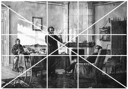 В этой картине фигура Пушкина